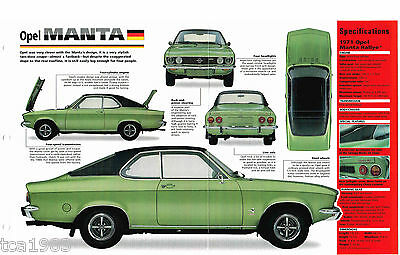 Opel Manta Rallye Imp Brochure: 1970,1971,1972,