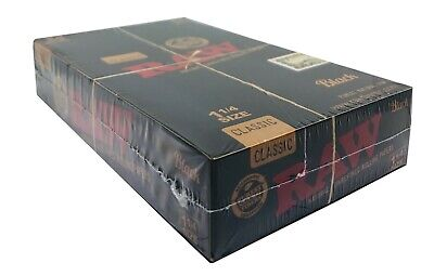 Roll Of Black Paper (Raw Black 1 1/4 Rolling Papers Natural Hemp Wrap FRESH Box of)