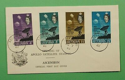 DR WHO 1966 ASCENSION FDC APOLLO SATELLITE STATION OPENING  C240883