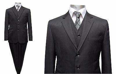 Herren Anzug mit Weste Gr.35 Schwarz