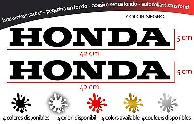 Vinilo, Adhesivo ,2 PEGATINAS HONDA 42x5 cm (La Unidad) Autocollant,vinil