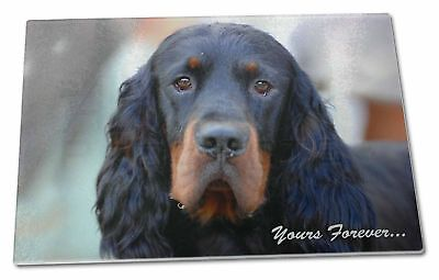 Gordon Setter 'Yours Forever' Extra Large Toughened Glass Cutting,, AD-GOR2yGCBL
