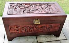 Carved Camphor Wood Box Mirrabooka Stirling Area Preview