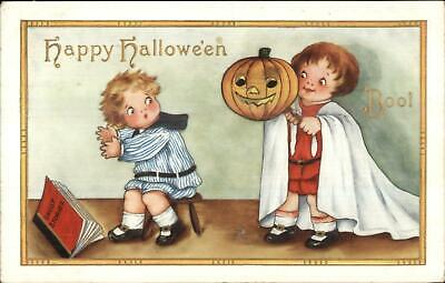 Halloween Story Book (Halloween Boys Scared Ghost Story Book c1915 Whitney)