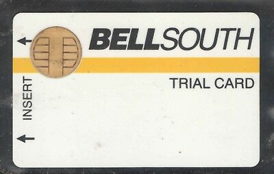 Bell South 1989 First Test Card with Bull Chip and Magnetic Stripe Phone Card