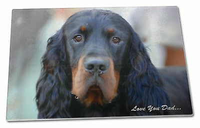 Gordon Setter 'Love You Dad' Extra Large Toughened Glass Cutting, Ch, DAD-38GCBL