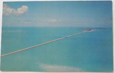 Seven Mile Bridge, Knight's Key and Pigeon Key Fla Postcard  C171