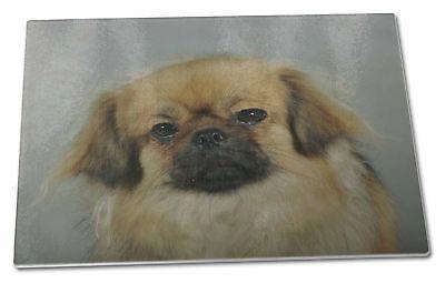 Tibetan Spaniel Dog Extra Large Toughened Glass Cutting, Chopping Bo, AD-TS2GCBL