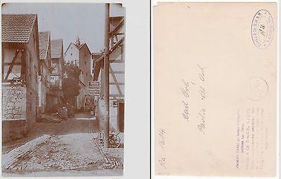Bad Orb,Straßenpartie mit Geschäft in der Altstadt  Foto (12,1cm x 17,0 cm) 1926