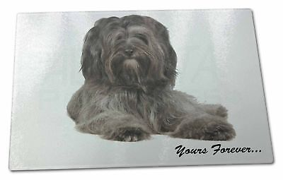 Tibetan Terrier 'Yours Forever'  Extra Large Toughened Glass Cuttin, AD-TT2yGCBL