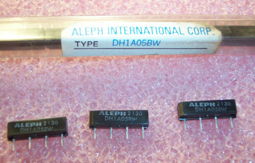 QTY (20) DH1A05BW ALEPH 4 PIN SIP 5V .5A SPST-NO REED RELAYS NOS 1 TUBE