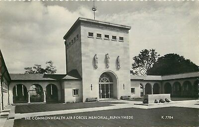 s09556 Commonwealth Air Forces Memorial, Runnymede, Surrey, England RP postcard