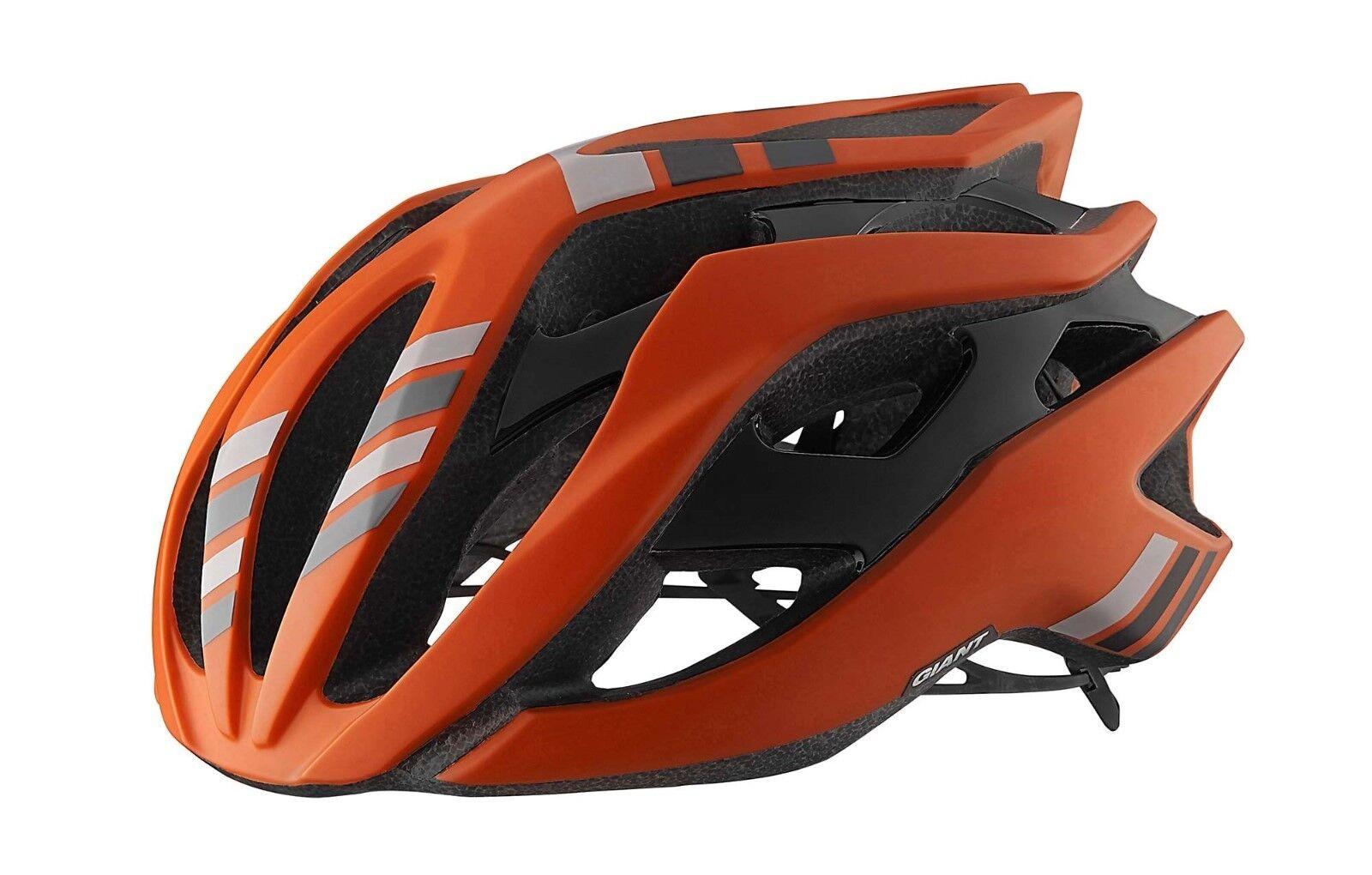 Casco da bici GIANT REV orange arancione arancio helmet bike road corsa strada