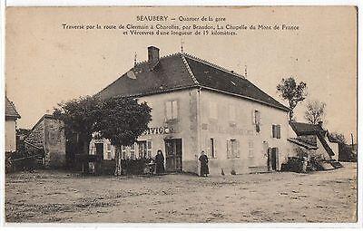 CPA 71 - BEAUBERY (Saône et Loire) - Quartier de la Gare (petite animation)