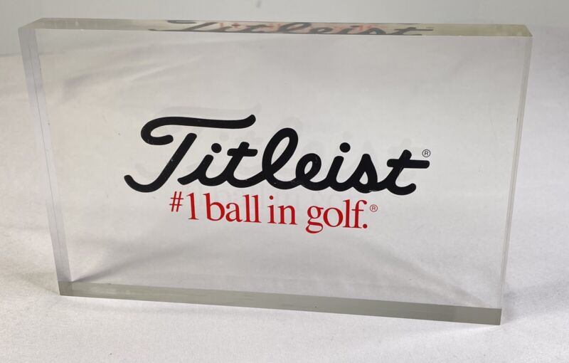 """Titleist #1 Ball In Golf Display Sign Crystal Clear  8"""" x 5"""" Advertising"""