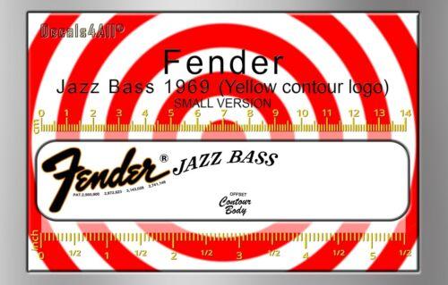 Fender Jazz Bass 1969  - Waterslide decal (orange logo)