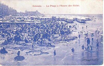 Carte Postale - Ostende - Oostende - La plage à l'heure des Bains