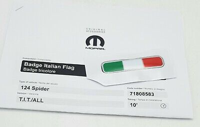 Brand New Genuine Fiat 124 Spider Italian Flag Badge Rear Bootlid 71808583 d'occasion  Expédié en Belgium