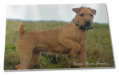 Lakeland Terrier 'Love You Mum' Extra Large Toughened Glass Cutti, AD-LT1lymGCBL