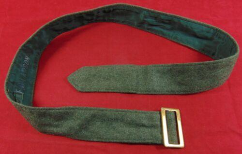 "U.S. Marine Corps Service Alpha Uniform Green Wool Blouse Belt  - 37"" - Lot 4"