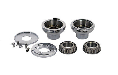 Neck Cup Kit - Harley Chrome Fork Neck cup kit with internal stop fits 1.0