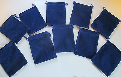 Wholesale Lot Of 50 Royal Blue Velveteen Drawstring Bags Pouches 3 X 4