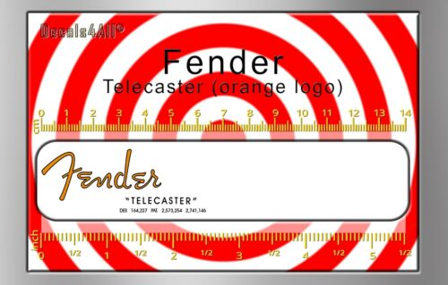 Fender Telecaster  - Waterslide decal (orange logo)