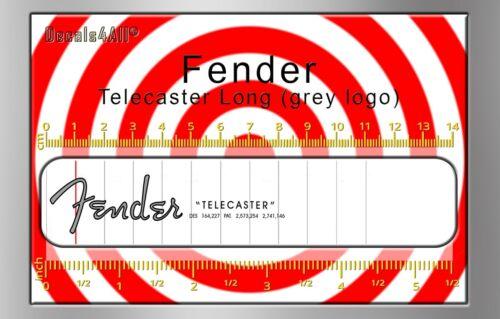 Fender Telecaster Long - Waterslide decal (Grey logo)