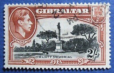 1938 GIBRALTAR 2S SCOTT# 115b S.G.# 128a USED  CS02035