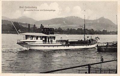 OLD POSTCARD - GERMANY - Bad Godesberg - Elektrische Fahre mit Siebengebirge