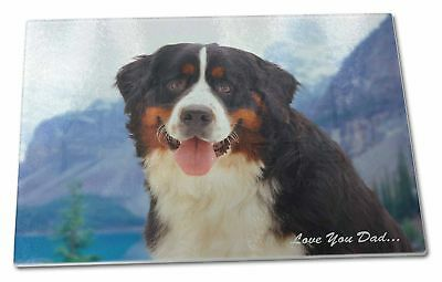 Bernese 'Love You Dad' Extra Large Toughened Glass Cutting, Chopping , DAD-8GCBL