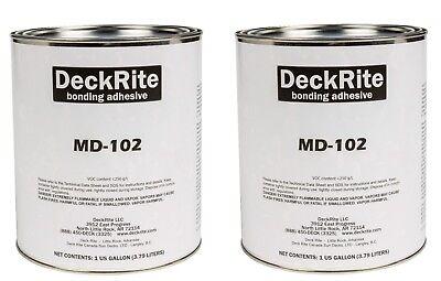 Marine Vinyl Flooring Adhesive Glue - MariDeck / DeckRite - (2) Gallons - MD 102