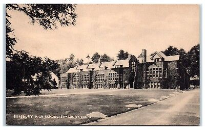 Early 1900S Simsbury High School  Simsbury  Ct Postcard