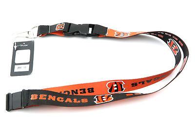 L Football Official Licensed Team Colors Reversible Lanyard (Cincinnati Bengal)