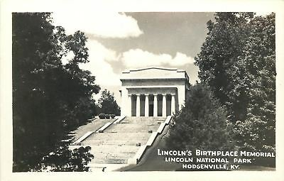 Hodgenville Kentucky Lincoln National Park Birthplace Memorial 1950S Rppc