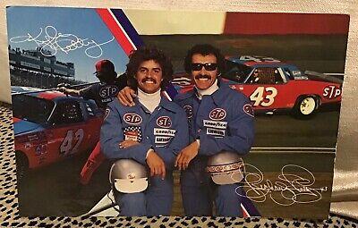 NASCAR RICHARD PETTY KYLE PETTY 1980 PROMOTIONAL POSTCARD