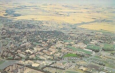 WASHINGTON STATE UNIVERSITY Aerial View Stadium 1959-64 Looking NE postcard B43