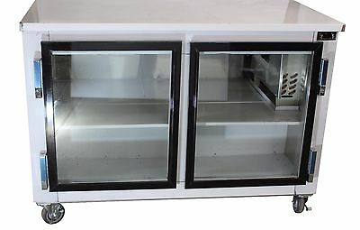 2-door Stainless Steel Back Bar Beverage Cooler 48