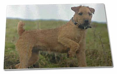 Lakeland Terrier Dog Extra Large Toughened Glass Cutting, Chopping B, AD-LT1GCBL