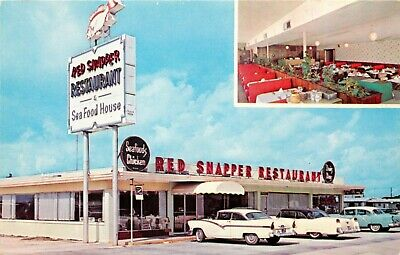 A View Of The Red Snapper Restaurant, Atlantic Avenue. Daytona Beach, Florida FL