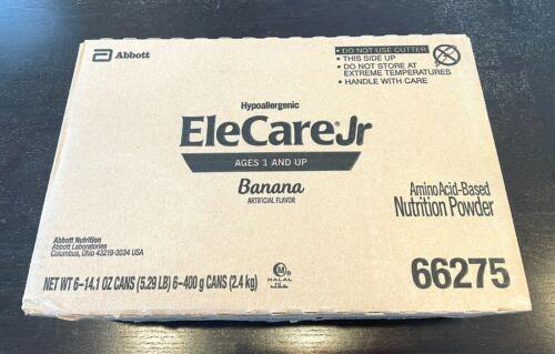 6 Cans (14.1 oz) EleCare Jr Banana Hypoallergenic Formula Exp 2/23 Free ship!