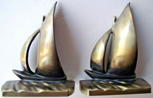 Brass Sailboat Bookends