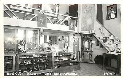 RPPC Postcard Bird Cage Theatre Tombstone AZ 6y474