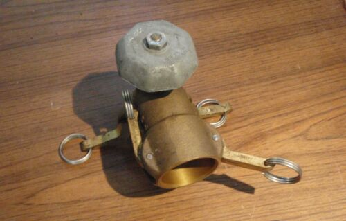 """Brass Cam Lock Valve with 90 elbow reducer coupling 2"""" x 1.5"""""""
