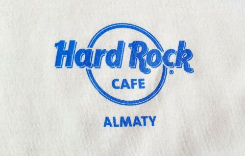 KAZAKHSTAN: HARD ROCK CAFE ALMATY HRC CITY logo T-SHIRT men