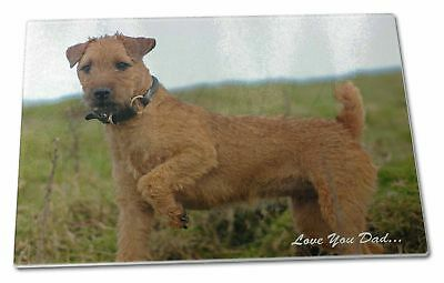 Lakeland Terrier 'Love You Dad' Extra Large Toughened Glass Cutting,, DAD-73GCBL