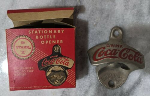 Vintage Coca-Cola Wall Mount Bottle Opener Starr X -  # 26 Made in USA W Box