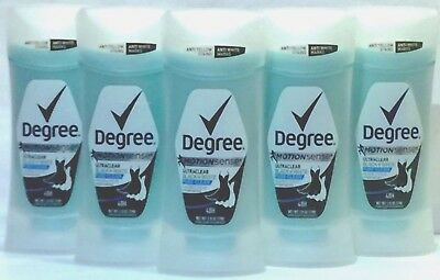 Degree Deodorant Antiperspirant Stick  Pure Clean 2 6 Oz   5Pk