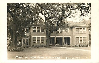 Uvalde Texas~Vice-President John Garner Home~Sepia Real Photo Postcard 1930s