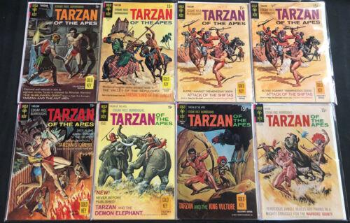 GOLD KEY TARZAN BRONZE AGE COMIC LOT 8PC (VF)